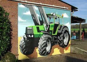 Traktor-Graffiti
