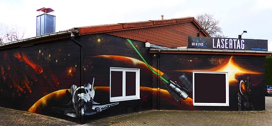Graffitiauftrag Lasertag Ibbenbüren