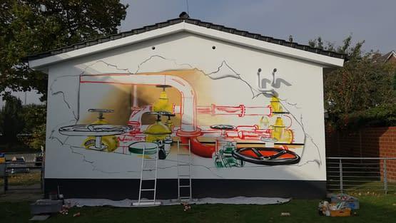 Graffiti Stadtwerke