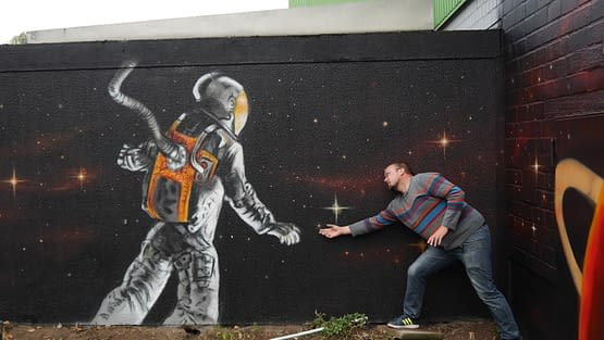 Astronaut-Graffiti